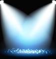 dark background with spotlights vector image