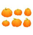 set of gradient orange pumpkin autumn design vector image