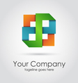 Abstract geometric company logo vector image