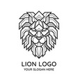 abstract geometric lion face logo vector image vector image