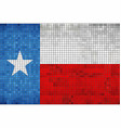 abstract mosaic flag of texas vector image vector image