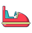 amusement park bumper car icon cartoon style vector image