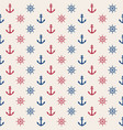 Anchor and rudder seamless pattern marine