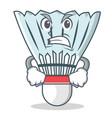 angry shuttlecock character cartoon vector image