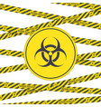 biohazard sign and tape vector image vector image