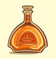 bottle of cognac vector image vector image