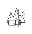 business achievement line icon concept business vector image