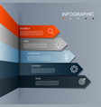 business infographic arrow modern five step vector image
