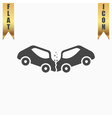car crash and accidents icon vector image vector image