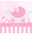 card girl in pram vector image