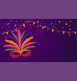 carnival backgroundbrazillian parade poster with vector image vector image