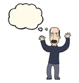 cartoon angry dad with thought bubble vector image vector image