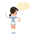 cartoon waitress calling order with speech bubble vector image vector image