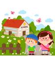 children at school vector image vector image