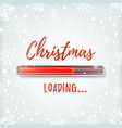 christmas loading greeting card design template vector image vector image