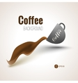 Coffee background for your designs posters and vector image