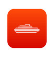 cruise ship icon digital red vector image vector image