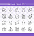 crystal simple black line icons set vector image vector image