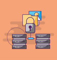 data center technology security folder vector image