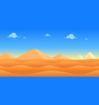 desert day game background vector image vector image