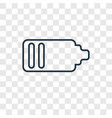 empty battery concept linear icon isolated on vector image