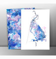 Fashion women in sketch style Greeting card with vector image vector image