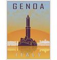 genoa vintage poster vector image vector image