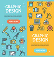 graphic design signs banner vertical set vector image vector image