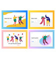 happy business people new year party landing page vector image