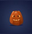 happy halloween banner pumpkin traditional vector image