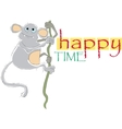 Happy time vector image