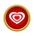 Heart icon in simple style vector image