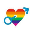 Homosexual love male flat icon vector image vector image
