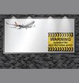 illuminated advertising billboard quarantining vector image vector image