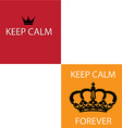Keep calm design elements vector image vector image