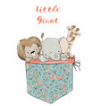 little pocket animals vector image vector image