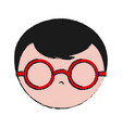 man with glasses icon vector image vector image