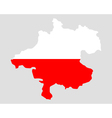 Map and flag of Upper Austria vector image vector image