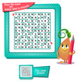 maze what is proverb iq worksheet vector image vector image
