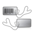 Metallic tag and chain vector image