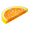 orange jelly icon isometric style vector image