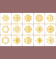 ornamental gold symbols set vector image vector image
