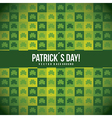 patricks day with clover pattern vector image