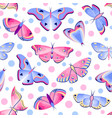pattern with butterflies and moths vector image vector image