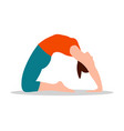 pigeon position of yoga white vector image vector image