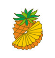 pineapple fruit template flat vector image vector image