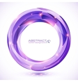 Purple crystal abstract round frame vector image
