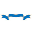 ribbon blue sign 1610 vector image