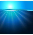 Sea background with sunbeam vector image