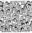 seamless crowd pattern vector image